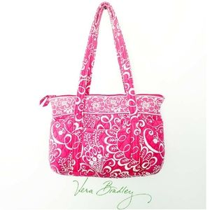 Vera Bradley Tote in Twirly Birds Pink